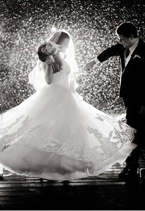 Se marier civilement sous la pluie